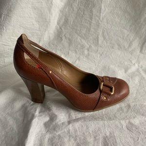 NWOB Franco Sarto Size 10 M Leather Brown Heels